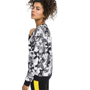 Thumbnail 2 of Classics Logo All-Over Printed Women's Sweater, Cotton Black, medium