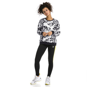 Thumbnail 5 of Classics Logo All-Over Printed Women's Sweater, Cotton Black, medium