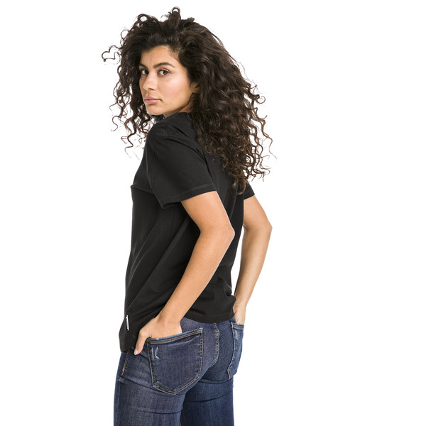 Downtown Short Sleeve Women's tee, Cotton Black, large