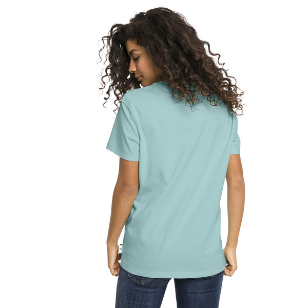 Downtown Short Sleeve Women's tee, Aquifer, large