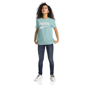 Thumbnail 5 of Downtown Short Sleeve Women's tee, Aquifer, medium