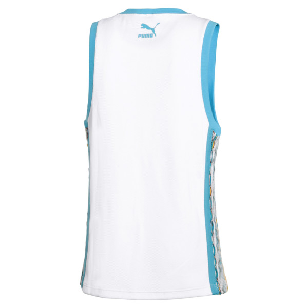 PUMA x COOGI Archive Tank Top, Puma White-Blue Atoll, large