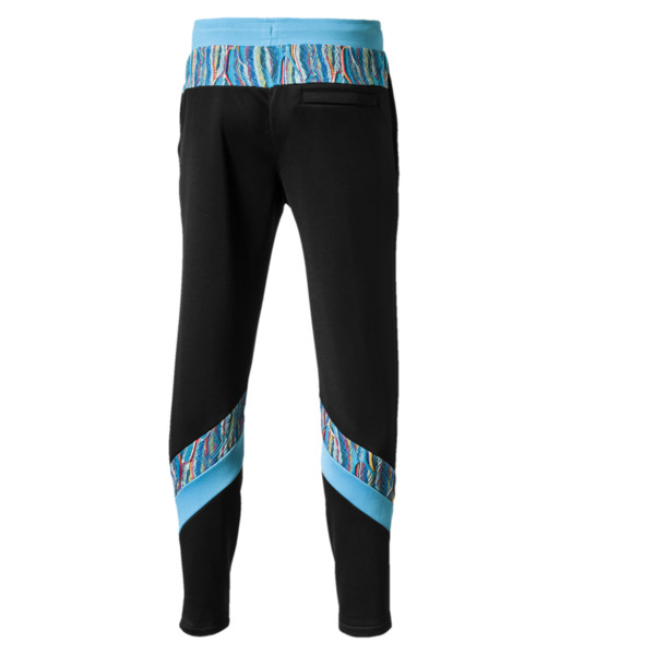 PUMA x COOGI Men's  Track Pants, Puma Black-Blue Atoll, large