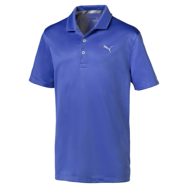 Essential Boys' Golf Polo, Dazzling Blue, large