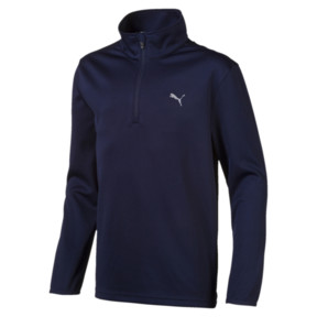 Thumbnail 1 of Quarter Zip Boys' Golf Pullover, Peacoat, medium