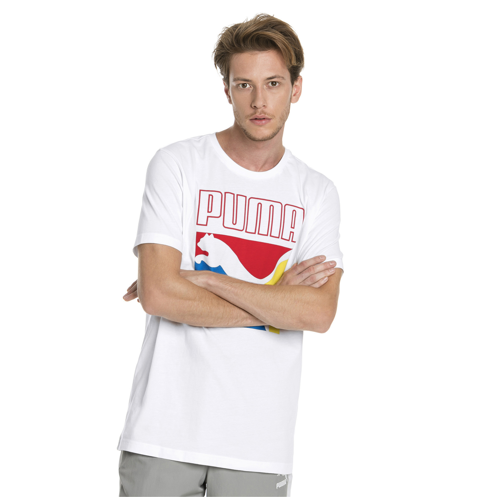 Image Puma Graphic Box Logo Men's Tee #1
