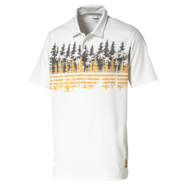 Pines Men's Golf Polo, Chocolate Brown, large
