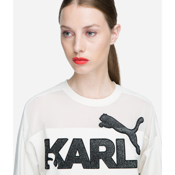 PUMA x KARL LAGERFELD Women's Sweater, Birch, large