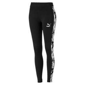 Thumbnail 1 of Classics T7 AOP Women's Leggings, Cotton Black, medium