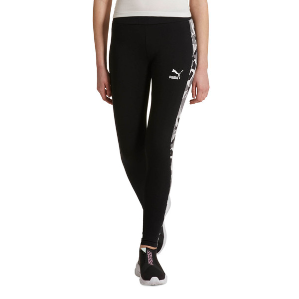 Classics T7 AOP Women's Leggings, Cotton Black, large