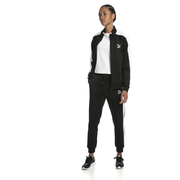 Damskie spodnie dresowe Classics T7 z dzianiny, Puma Black, obszerny