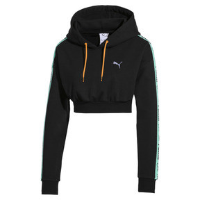 Thumbnail 1 of PUMA x SUE TSAI Cropped Women's Hoodie, Puma Black, medium