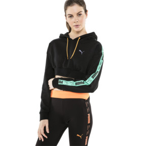 Thumbnail 2 of PUMA x SUE TSAI Cropped Women's Hoodie, Puma Black, medium