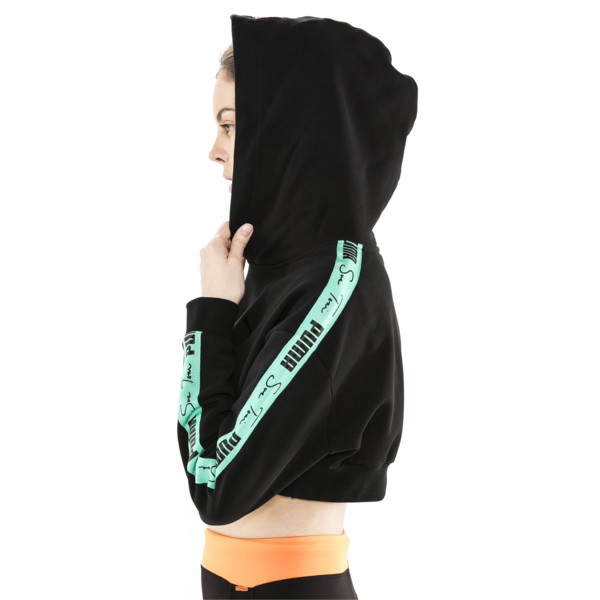 PUMA x SUE TSAI Cropped Women's Hoodie, Puma Black, large