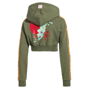 Thumbnail 4 of PUMA x SUE TSAI Cropped Women's Hoodie, Olivine, medium