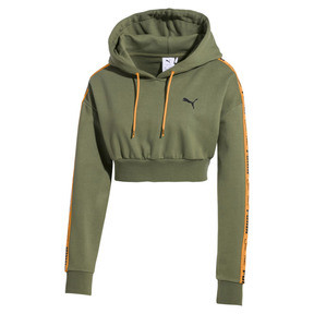Thumbnail 1 of PUMA x SUE TSAI Cropped Women's Hoodie, Olivine, medium