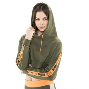 Thumbnail 2 of PUMA x SUE TSAI Cropped Women's Hoodie, Olivine, medium
