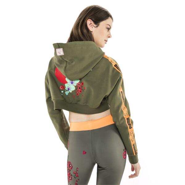 PUMA x SUE TSAI Cropped Women's Hoodie, Olivine, large