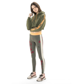 Thumbnail 3 of PUMA x SUE TSAI Cropped Women's Hoodie, Olivine, medium