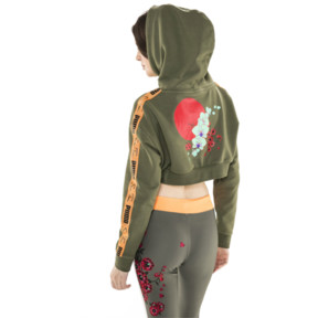 Thumbnail 7 of PUMA x SUE TSAI Cropped Women's Hoodie, Olivine, medium