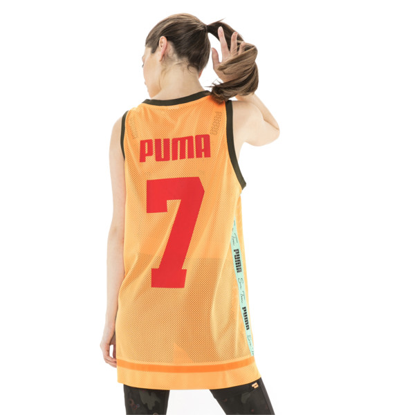 PUMA x SUE TSAI Women's Dress, Orange Pop, large