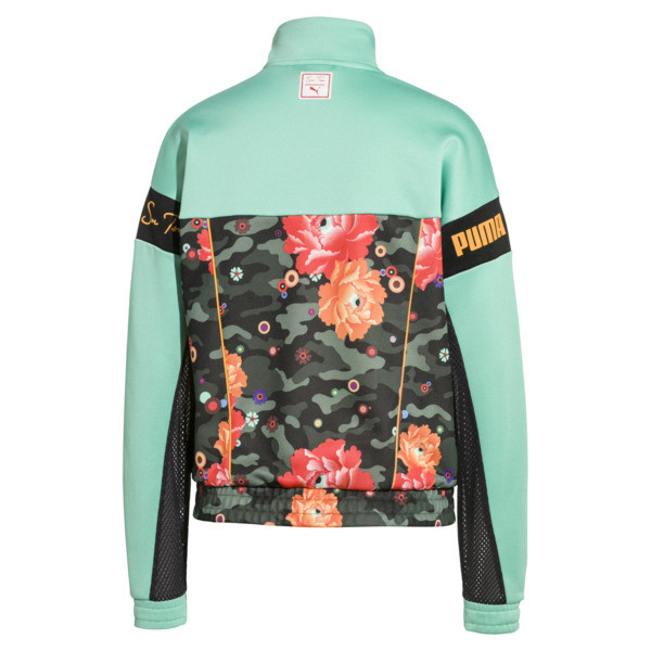 PUMA x SUE TSAI XTG Women's Track Jacket, Puma Black-Black- Peony, large