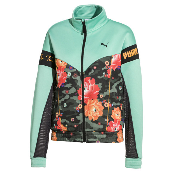 PUMA x SUE TSAI XTG trainingstop, Puma Black-zwart-pioenroosprint, large