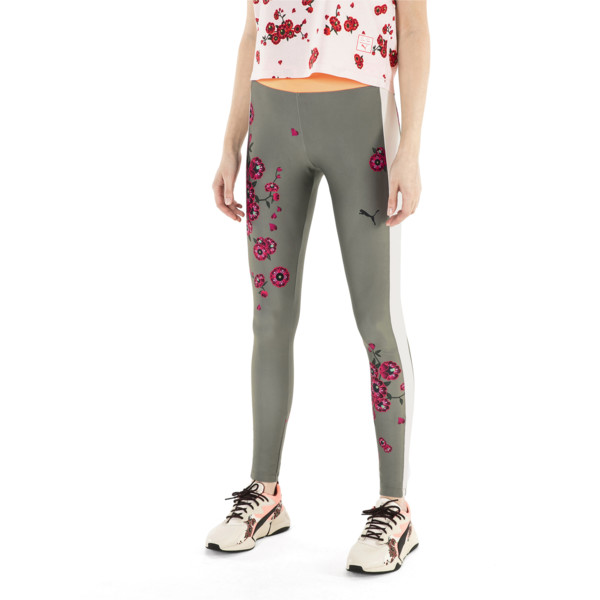 PUMA x SUE TSAI Blossom Women's Leggings, -Olivine, large