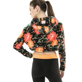 Thumbnail 3 of PUMA x SUE TSAI Damen Cropped Hoodie, - Black- Peony AOP, medium