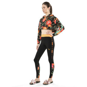 Thumbnail 5 of PUMA x SUE TSAI Damen Cropped Hoodie, - Black- Peony AOP, medium