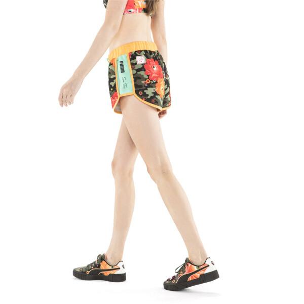 PUMA x SUE TSAI Gestrickte Damen Shorts, Puma Black- AOP, large
