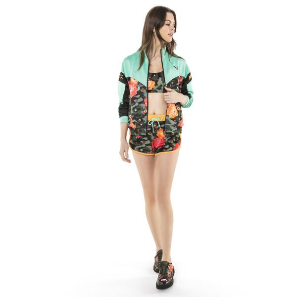 PUMA x SUE TSAI Women's Shorts, Puma Black- AOP, large