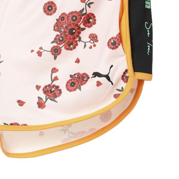 PUMA x SUE TSAI WOMEN'S  SHORTS, Orange Pop-AOP Pearl-Cherry, large-JPN