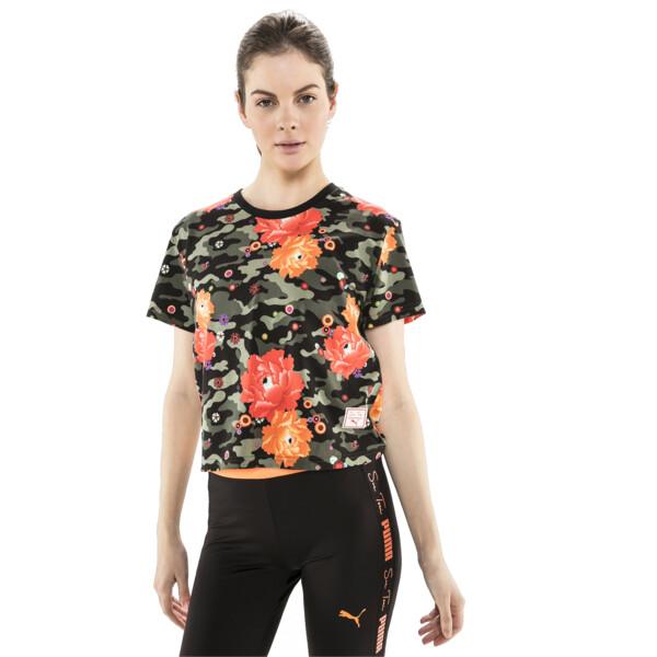 T-Shirt PUMA x SUE TSAI pour femme, Puma Black- Peony, large