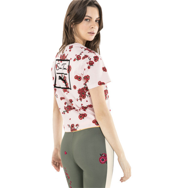 PUMA x SUE TSAI Women's Tee, -- Cherry Blossom AOP, large
