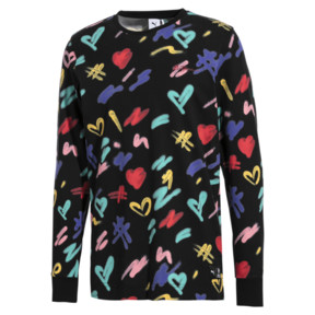 Thumbnail 1 of PUMA x BRADLEY THEODORE Long Sleeve Men's Tee, Puma Black-AOP, medium