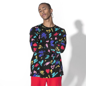 Thumbnail 2 of PUMA x BRADLEY THEODORE Long Sleeve Men's Tee, Puma Black-AOP, medium