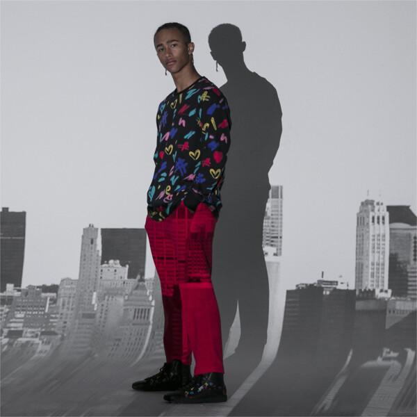 T-shirt à manches longues PUMA x BRADLEY THEODORE pour homme, Puma Black-AOP, large