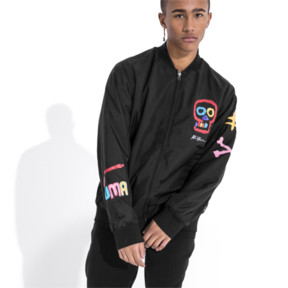Thumbnail 1 of PUMA x BRADLEY THEODORE Reversible Bomber, Puma Black, medium