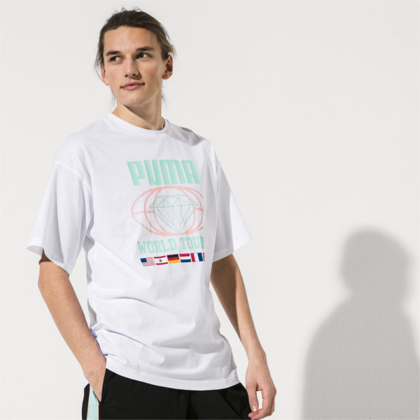 59c39e427bb PUMA x DIAMOND SUPPLY CO. Men's Tee | Puma White | PUMA T-Shirts ...