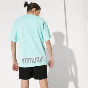 Thumbnail 2 of PUMA x DIAMOND Tシャツ, ARUBA BLUE, medium-JPN