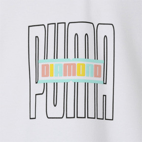 Thumbnail 10 of PUMA x DIAMOND SS スウェット フーディー (半袖), Puma White, medium-JPN