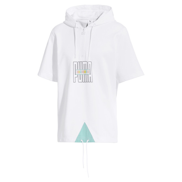 PUMA x DIAMOND Short Sleeve Men's Hoodie, Puma White, large
