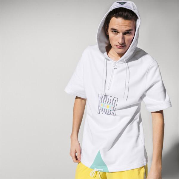 PUMA x DIAMOND SUPPLY CO. Men's Short Sleeve Hoodie, Puma White, large