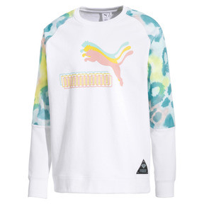 Thumbnail 4 of PUMA x DIAMOND Rundhals-Pullover, Puma White-AOP, medium
