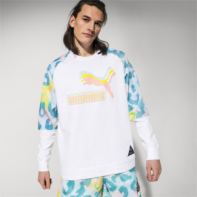 Thumbnail 1 of PUMA x DIAMOND Rundhals-Pullover, Puma White-AOP, medium