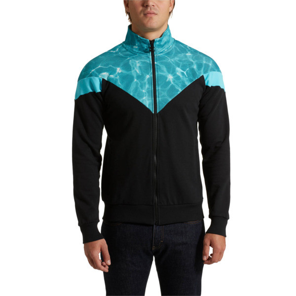 MCS Pool Men's Track Jacket, Puma Black, large