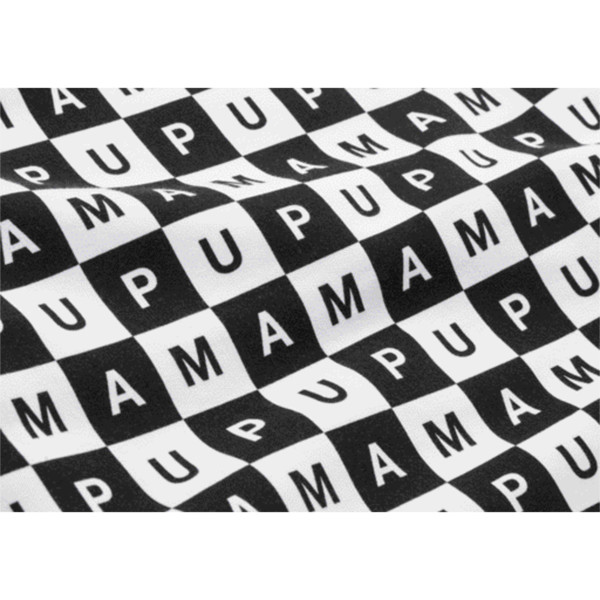 CHECKBOARD T7 HOODIE, Puma Black-Puma White - AOP, large-JPN