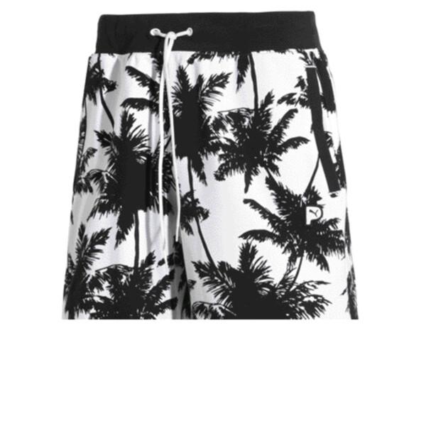 Palm Tree Men's Shorts, Puma Black--Plam TreeAOP, large