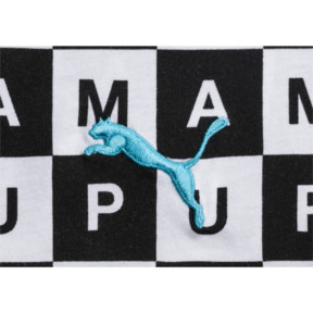 Thumbnail 4 of Checkboard AOP Tee, Puma White--AOP, medium